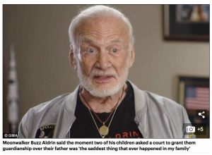 Buzz Aldrin, as depicted in The Daily Mail